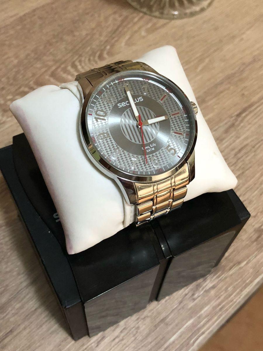 8d5fb894385 relógio seculus long life 5atm prata - relógios seculus