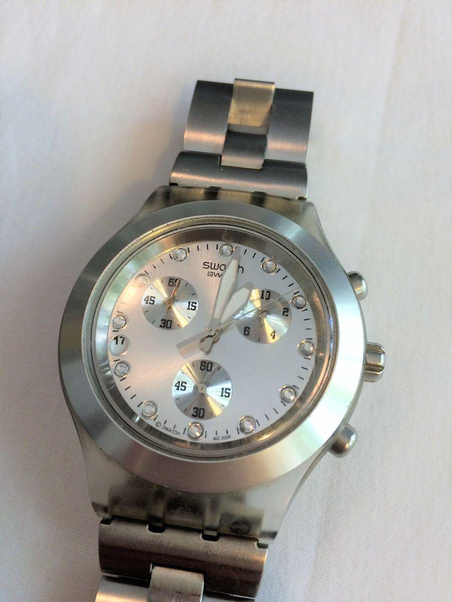 4ba2e592128 relógio swatch full blooded prata - relógios swatch