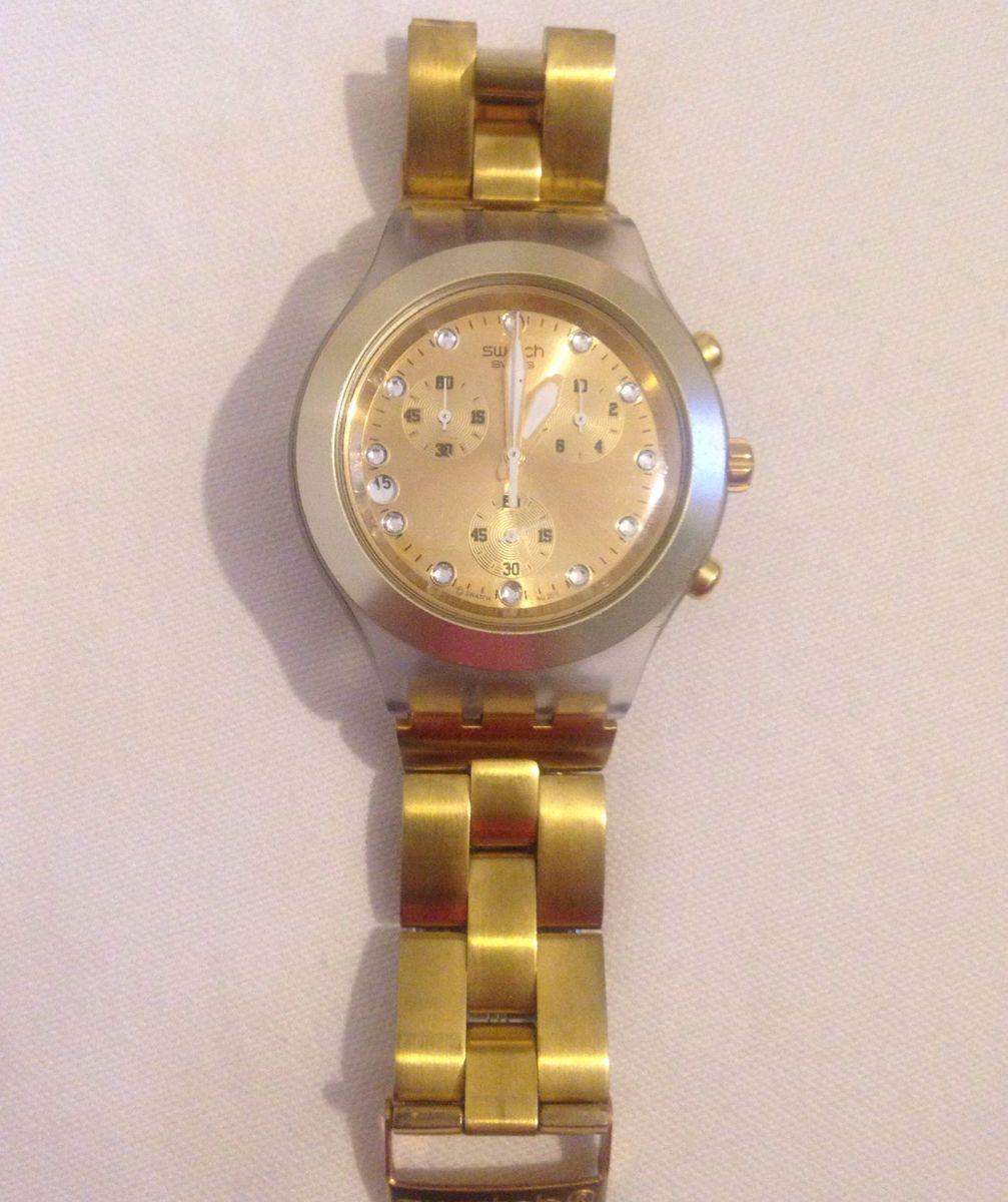 178c59161ec relógio swatch irony diaphane dourado - relógios swatch