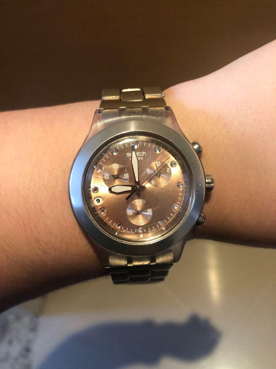 cde6cd398ea relógio swatch irony diaphane original - relógios swatch