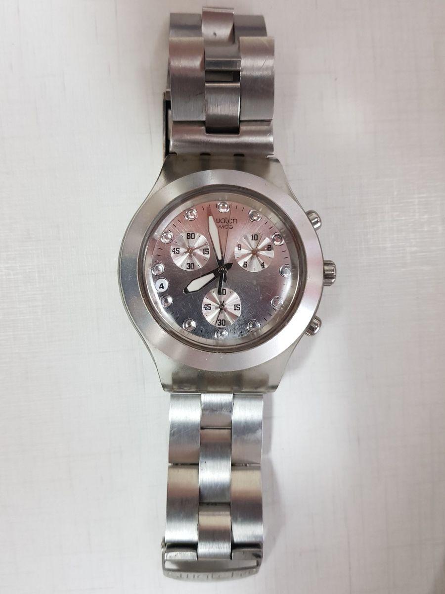 1bf12a15f33 relogio swatch irony prata - relógios swatch.  Czm6ly9wag90b3muzw5qb2vplmnvbs5ici9wcm9kdwn0cy80ody5nji4lzk0otuyytczyjcyyzewyjm2zjfiyju4ntrkmwm2mzmylmpwzw