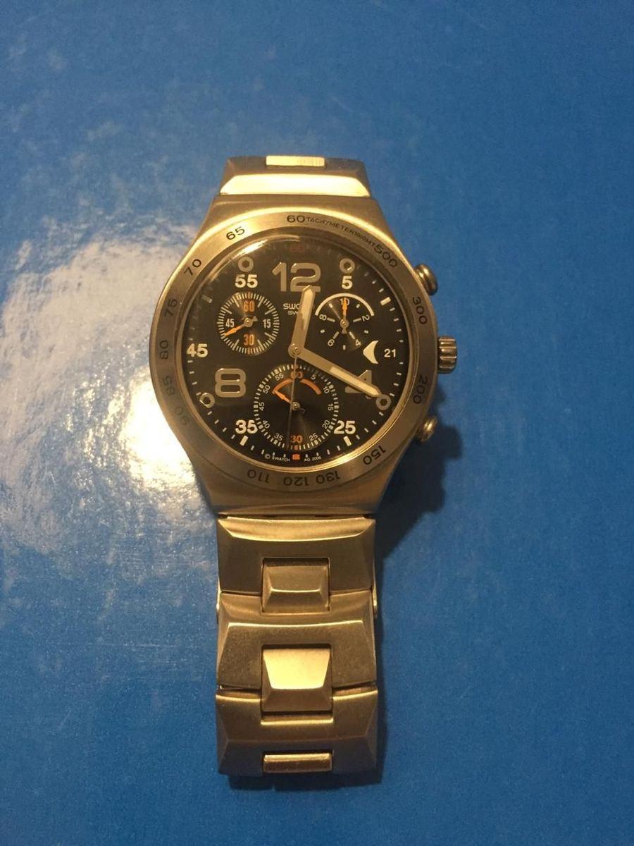 322eca1798d relógio swatch irony stainless steel - relógios swatch