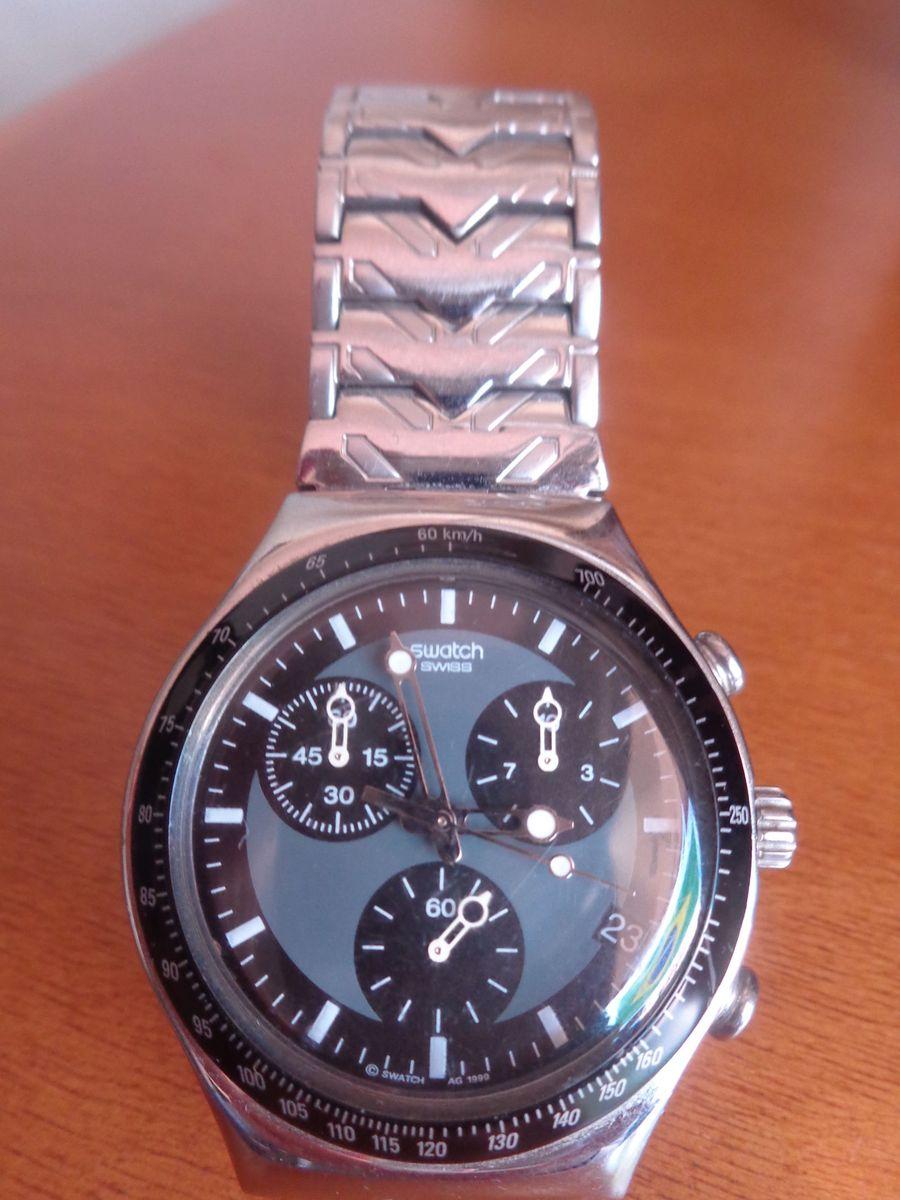 e3e9b9ecf29 relógio swatch irony swiss stainless steel - relógios swatch
