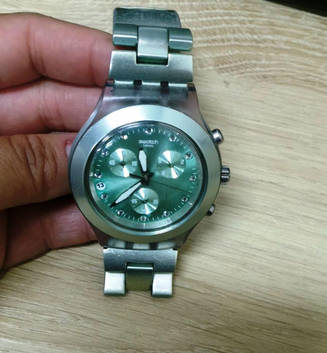 24ac77f70b8 relógio swatch verde água original - relógios swatch