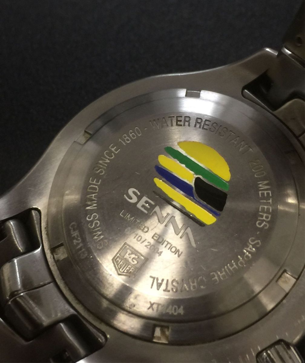 11f535f819e relógio tag heuer ayrton senna link original - edição limitada - relógios  tag-heuer
