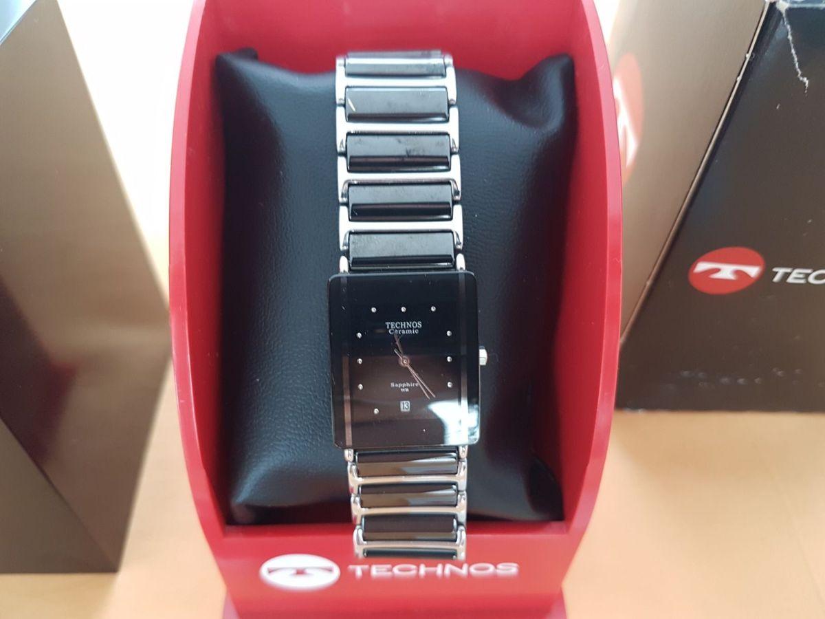 2bb616feafc58 relógio technos ceramic sapphire wr - relógios technos