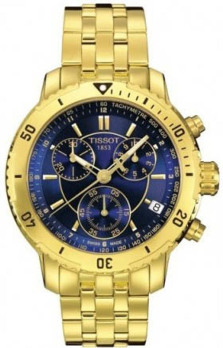13ad3da5d19 relogio tissot azul dourado caixa manual - relógios tissot
