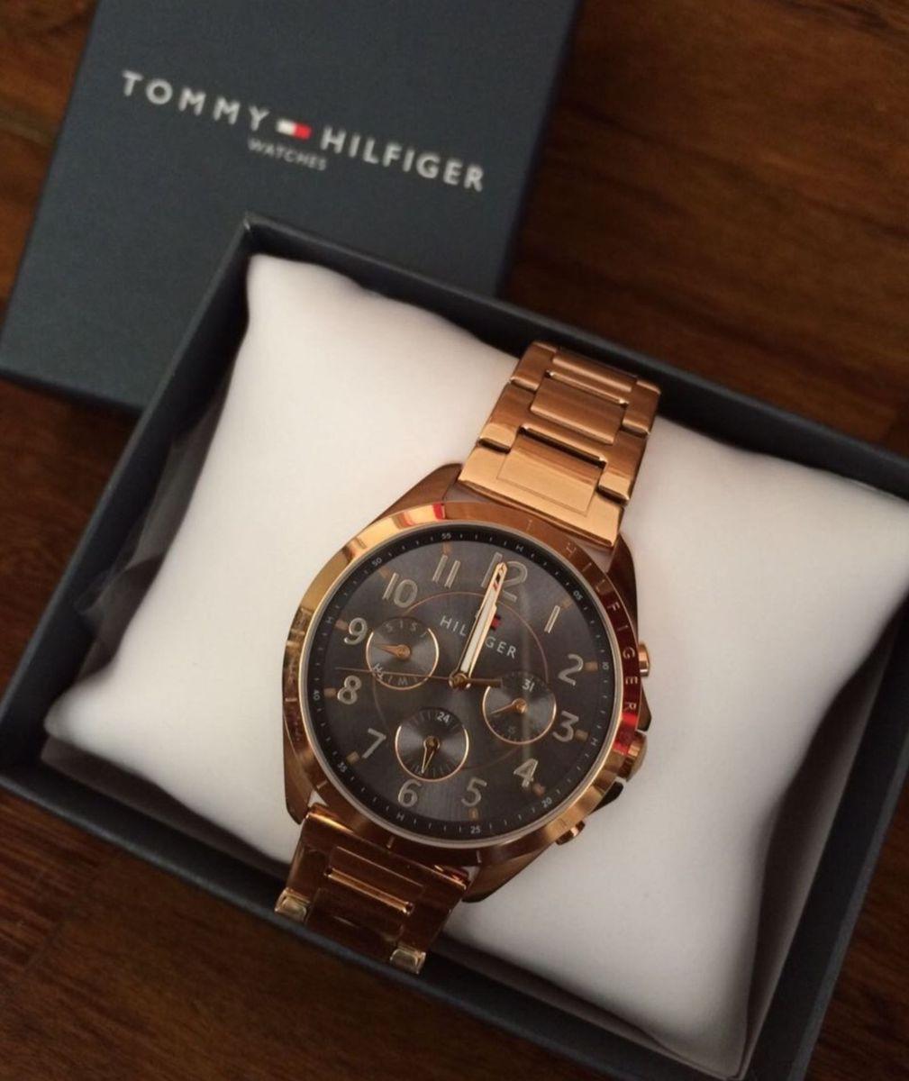cd8050ffbbb relógio tommy hilfiger feminino aço rosé - relógios tommy hilfiger