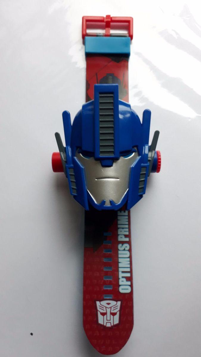 52d9f9f51 relógio transformers digital azul com slides - crescidinhos transformers