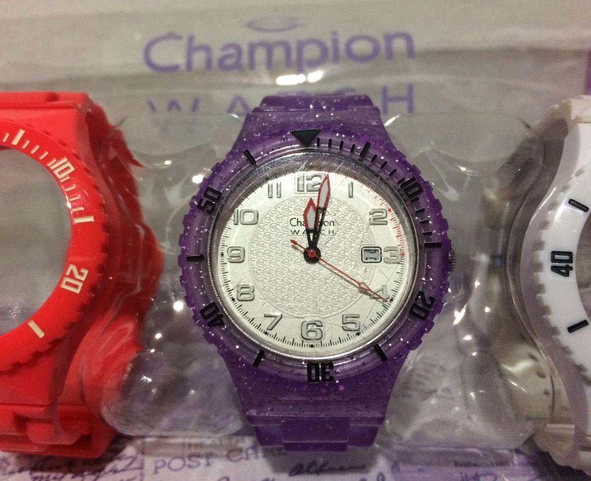 0385f068d39 relógio unissex champion troca pulseiras - relógios champion