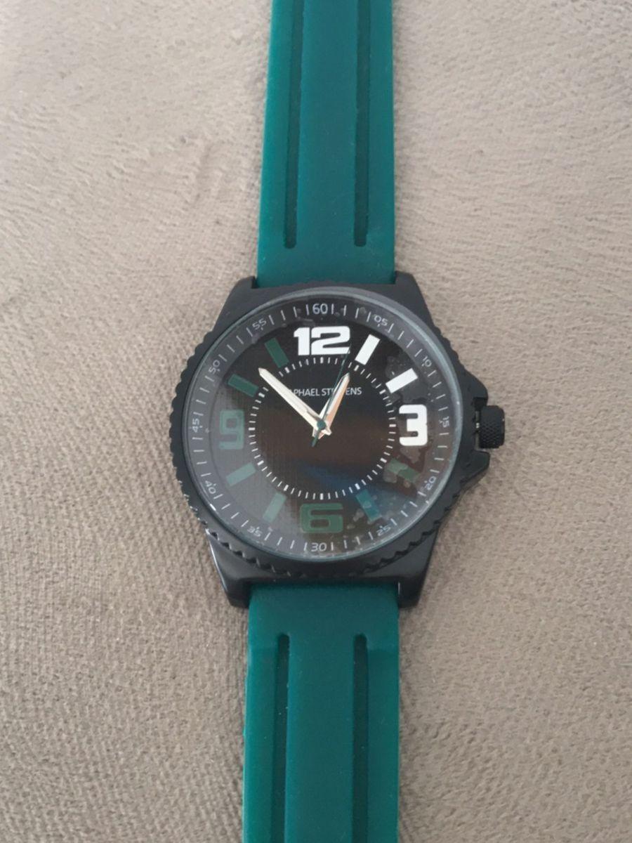 791e95b6d75 relógio verde e preto - relógios raphael steffens