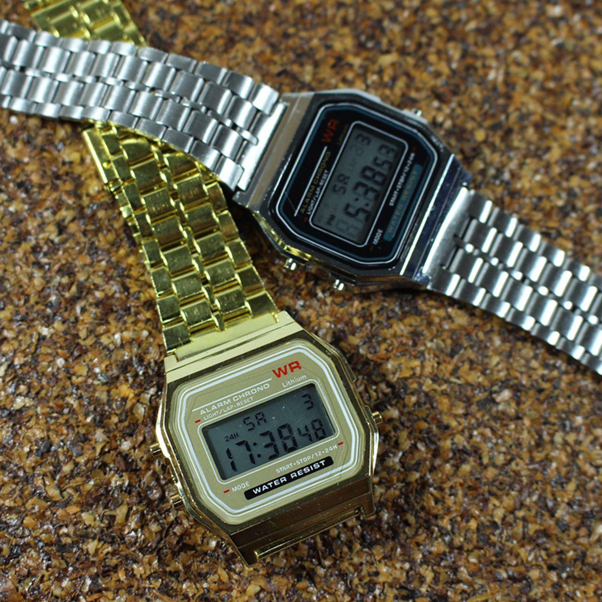 eafb59026f5 Relógio Vintage Digital - Kit com 2 Peças