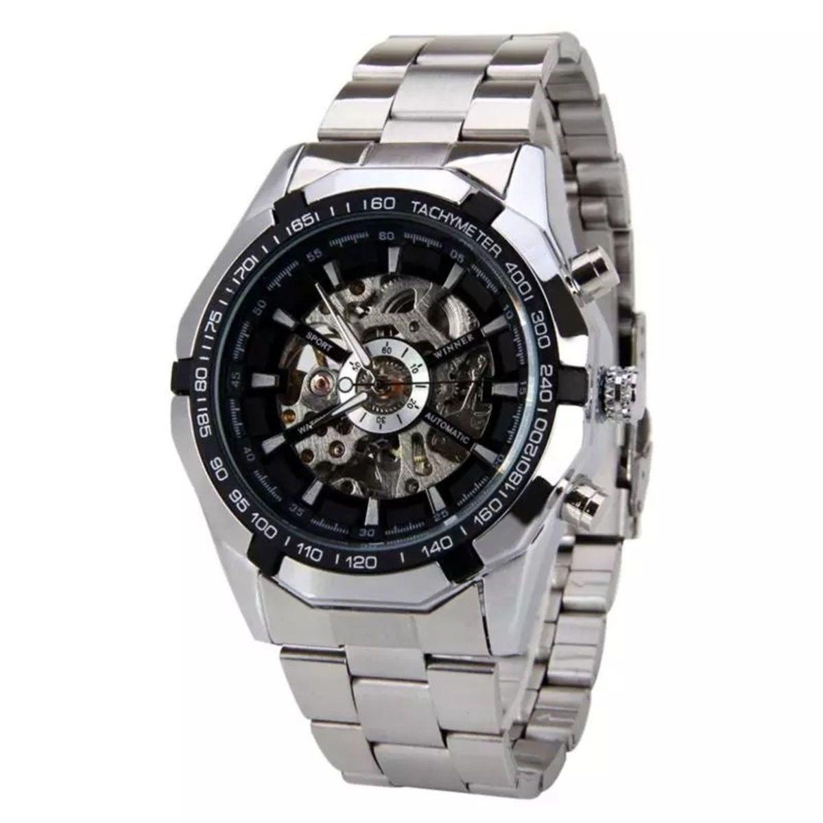 db983128818 Relógio Winner Skeleton Automático Original