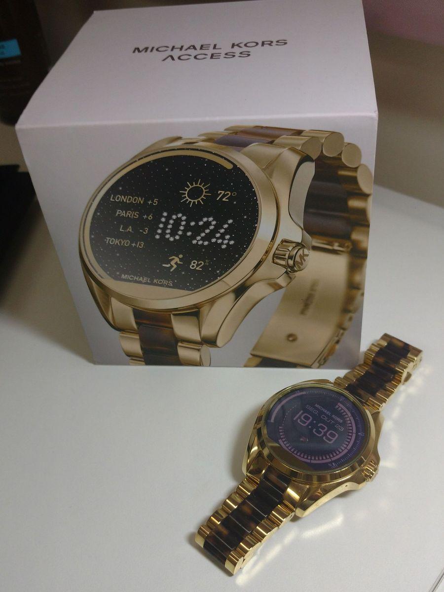 relógios smartwatch michael kors acces bradshaw - relógios michael-kors 3b72512c30
