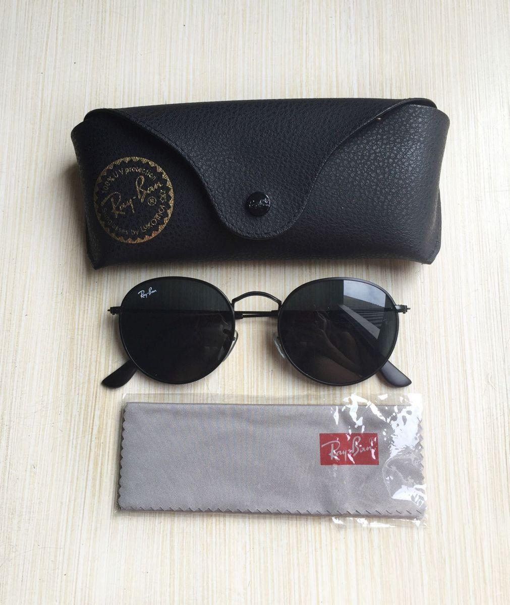 round preto - óculos ray ban
