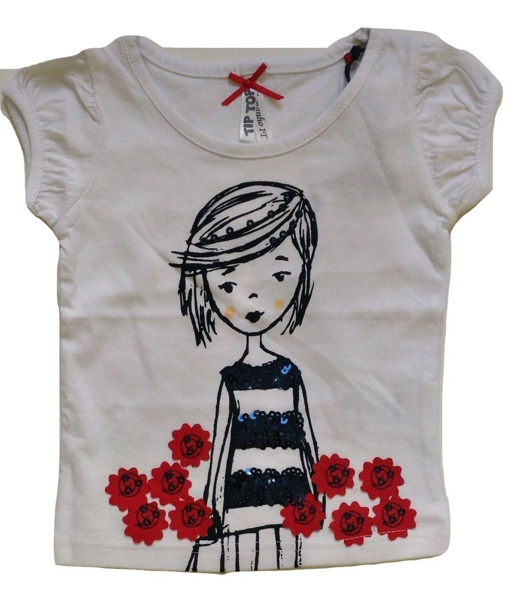 787e75bfb8 roupa infantil tip top - 01 blusa branca com detalhe em lantejoula e  estampa vermelha -