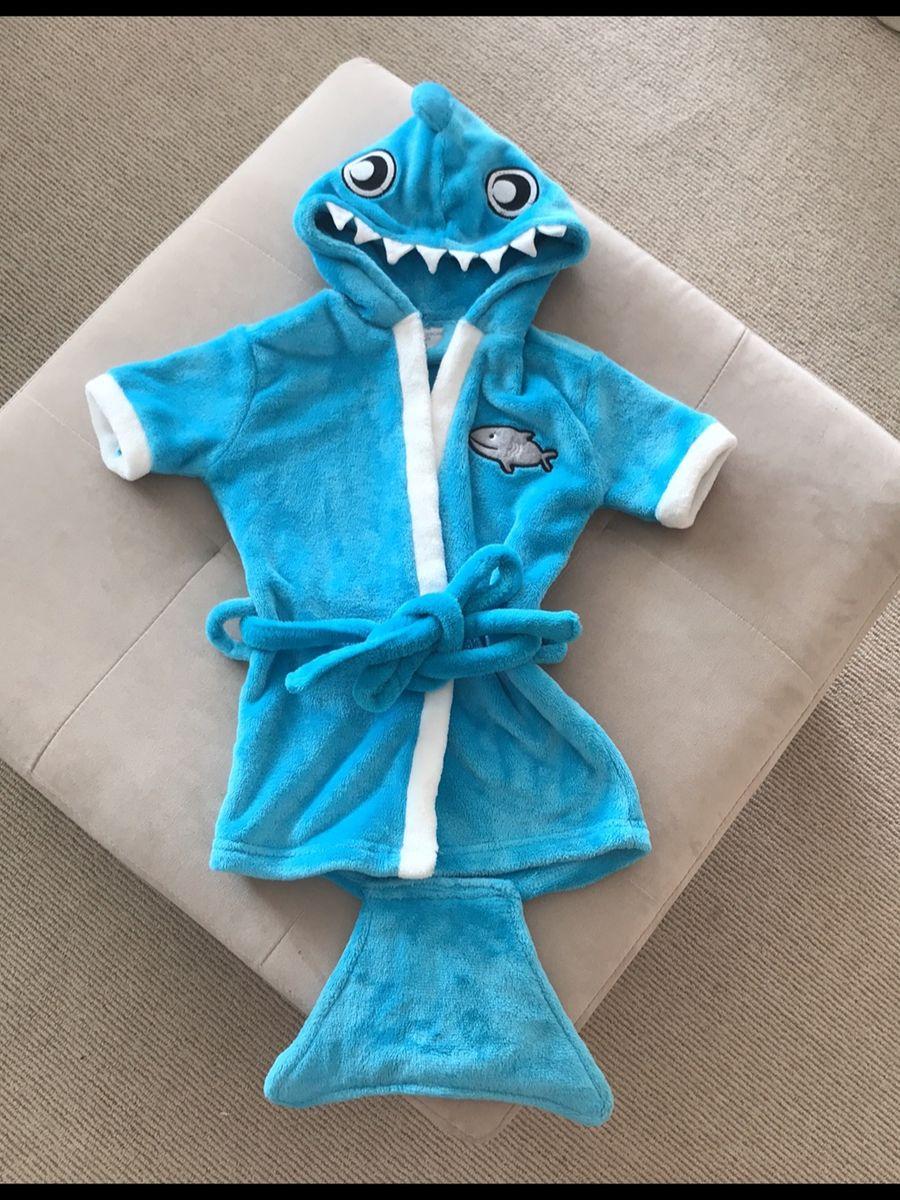 roupão muiiiito fofo do tubarão !! - bebê riachuelo