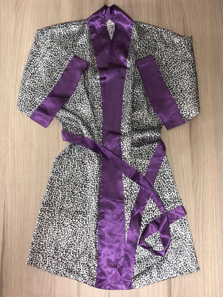 7b59c50f6b3714 roupão robe animal print oncinha e lilás