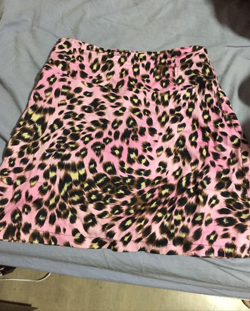 saia pintada rosa - saias sem marca