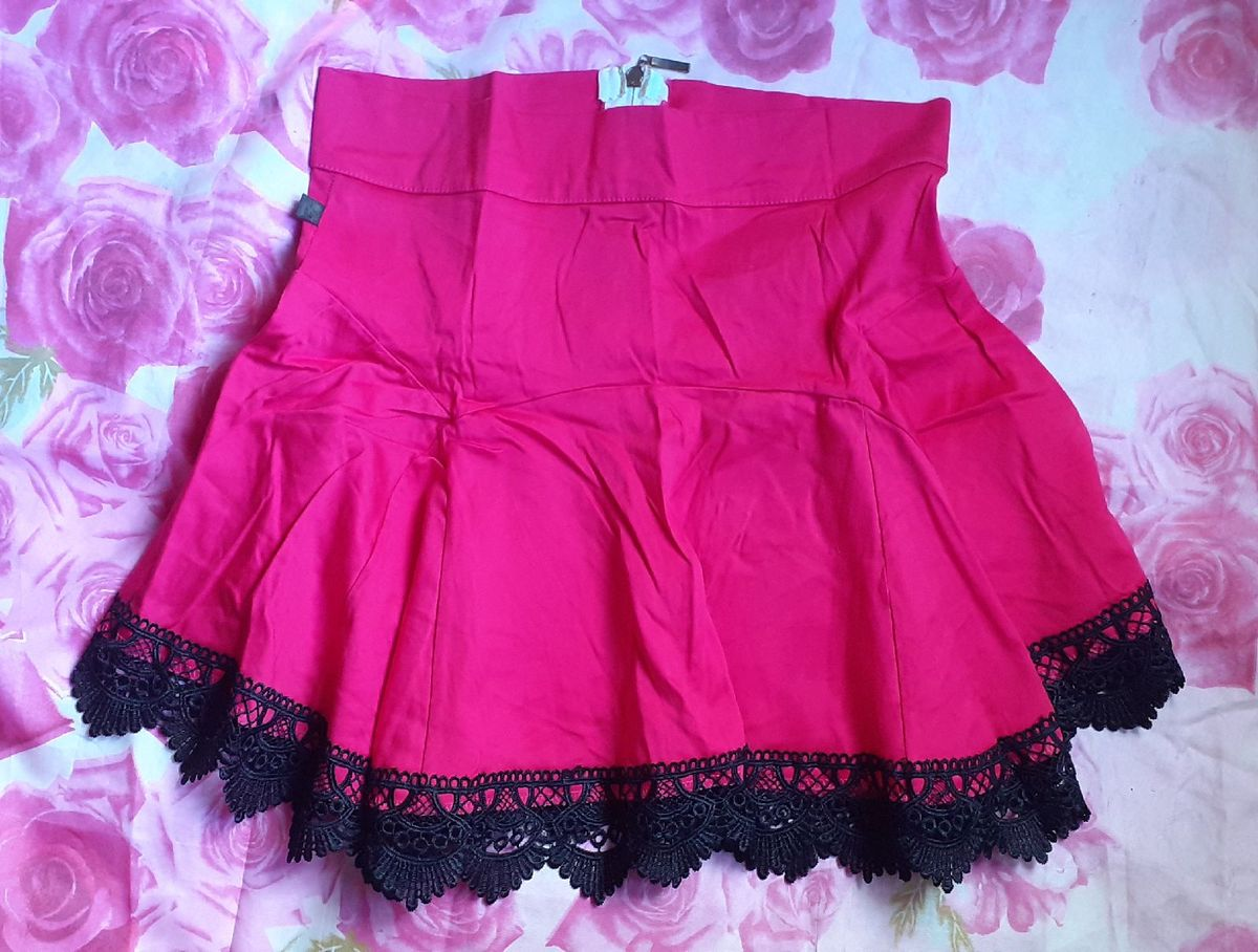 saia rodada pink - saias red cam