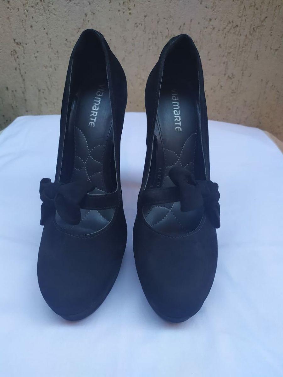 salto alto preto - sapatos via marte