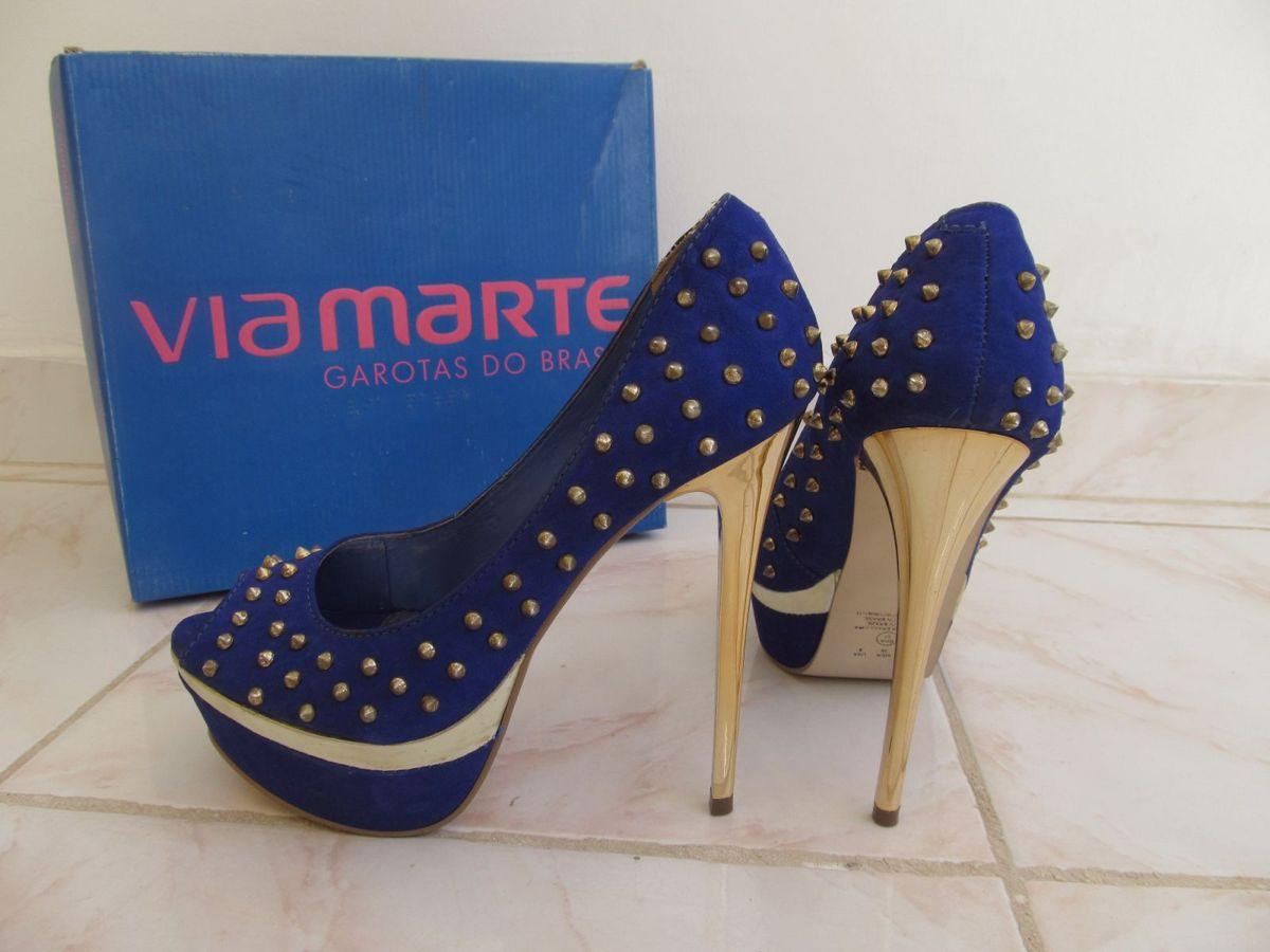 bb56cf61e2 salto azul via marte coleção garotas do brasil - sapatos via marte