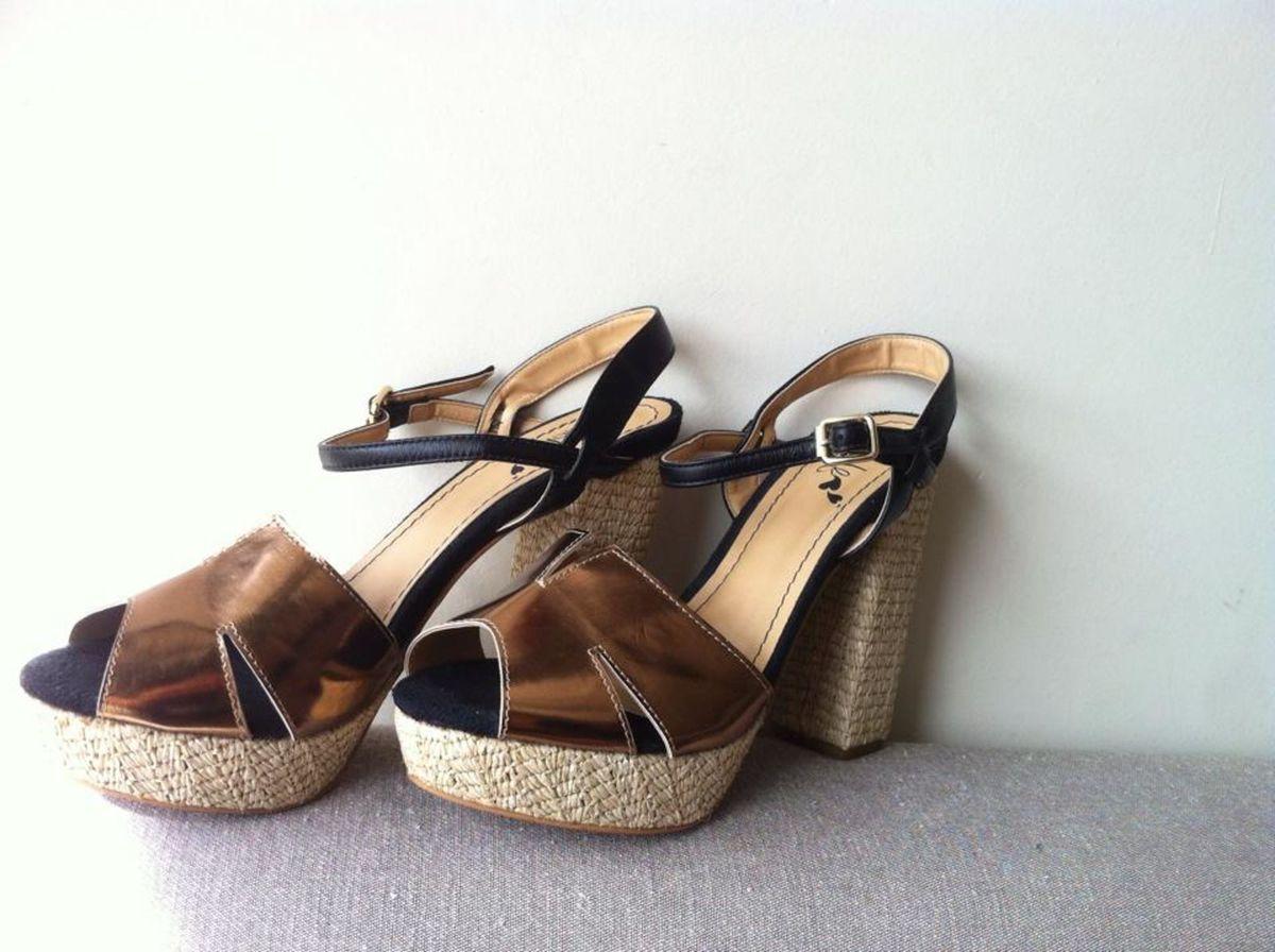 salto luxo 36 - sandálias sem marca