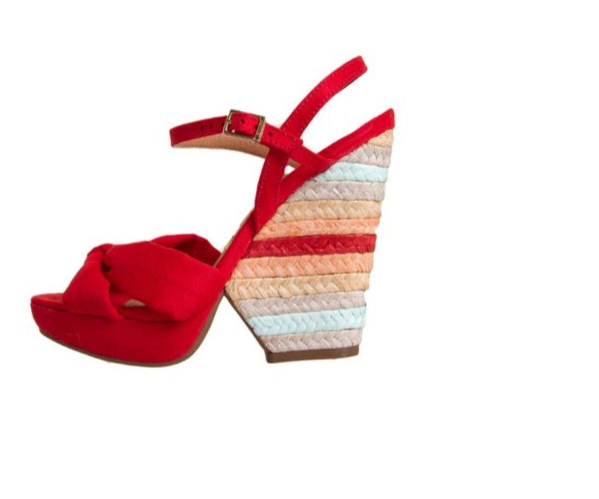 6df549c10f sandália anabela salto colorido- vizzano - sandálias vizzano
