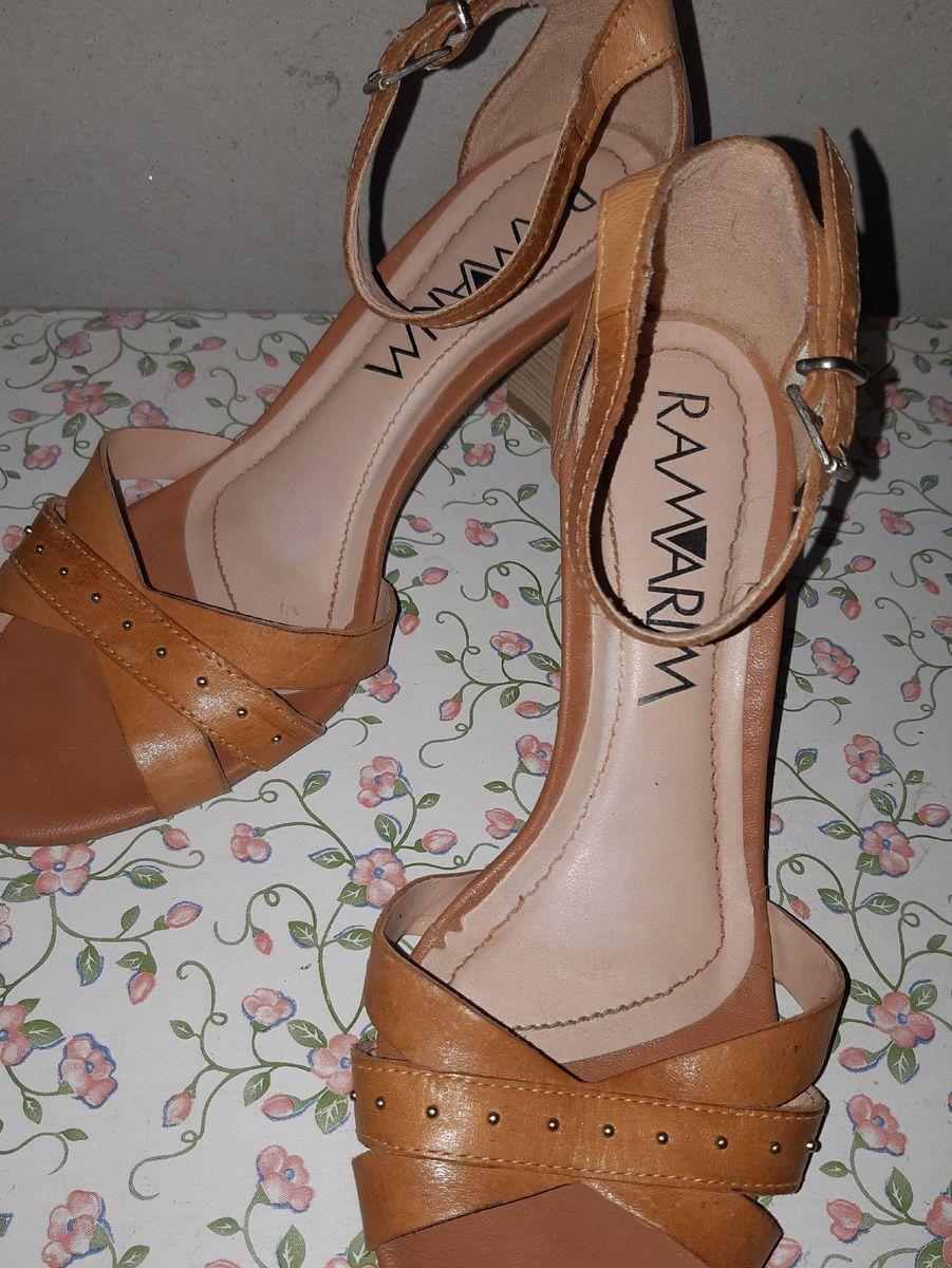 sandália de salto ramarim - sandálias ramarim