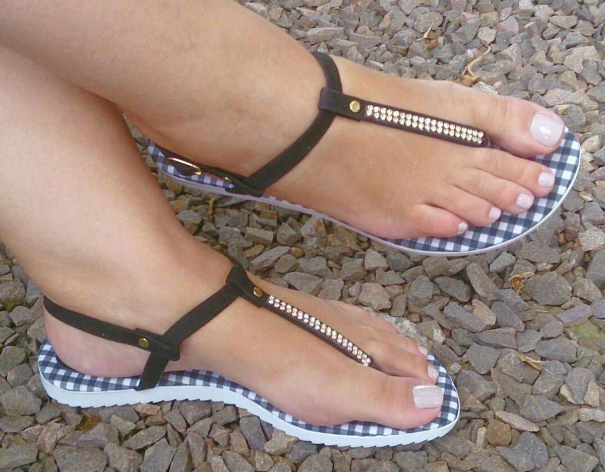 e26262caea sandália feminina tiras preta detalhe strass - sandálias diva sapatilhas