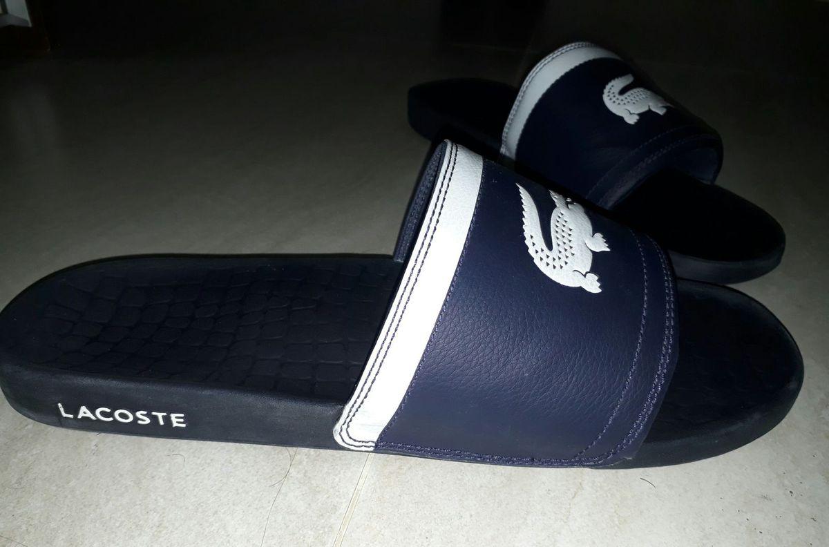 34a105306a7 sandália lacoste tipo chinelo masculino - sandálias lacoste