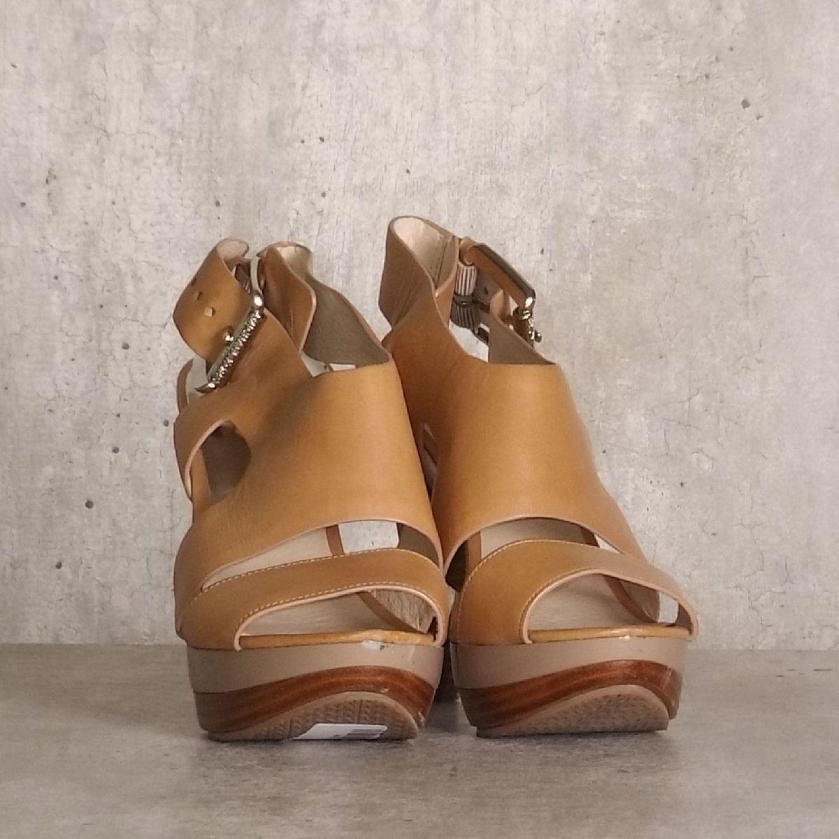 sandália meia pata caramelo michael - sandálias michael kors