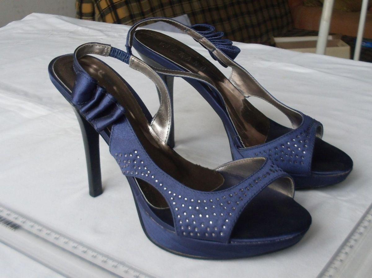 7071e0cebd sandália meia pata vizzano em cetim azul. número 37 - sandálias vizzano
