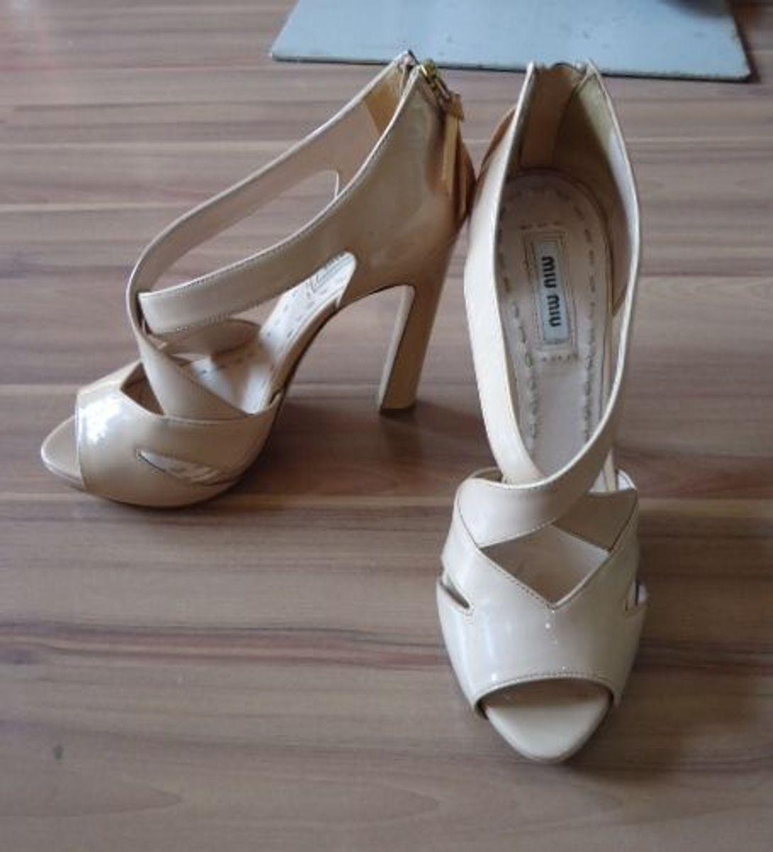 sandalia miu miu - sandálias miu-miu