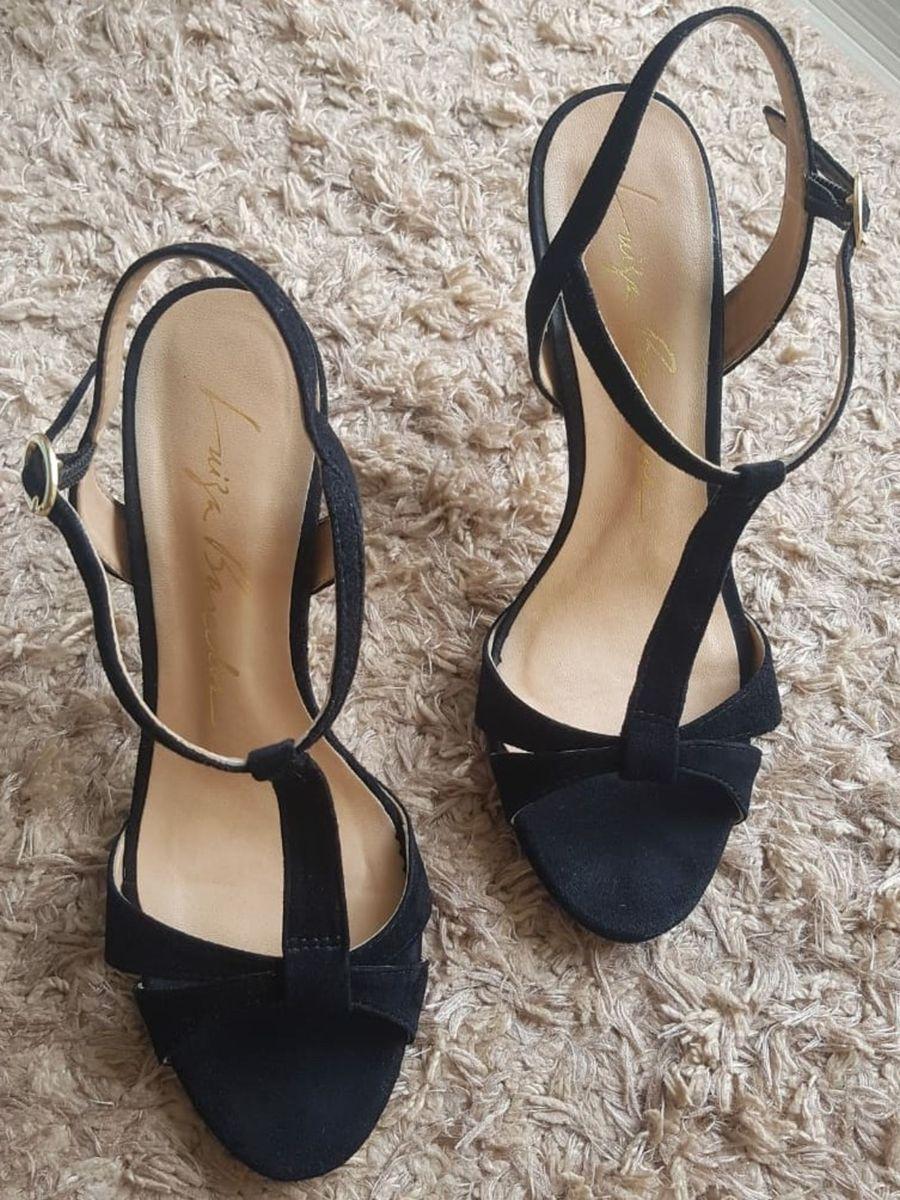 sandalia preta luiza barcelos - sandálias luiza barcelos