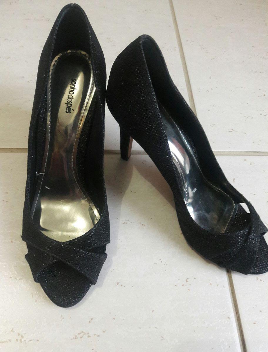 631967af28 sandália salto 7cm preta brilhante - sandálias sonho dos pes
