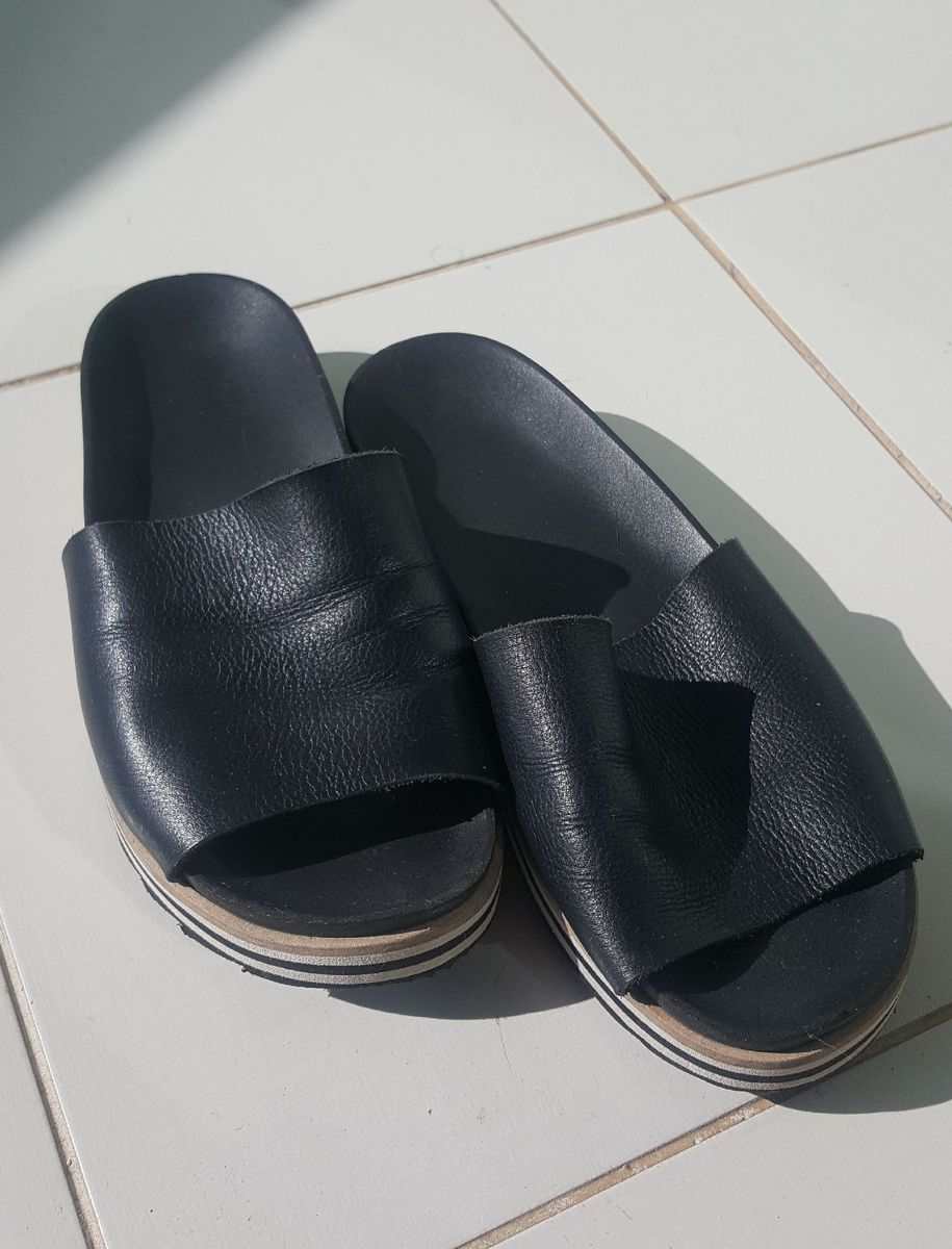 sandália via mia couro - sandálias via-mia