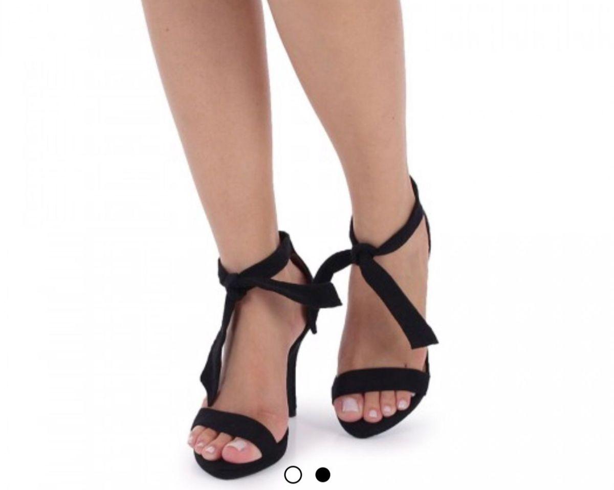 38560c9ddd sandália vizzano meia pata de cetim com amarração preta - sandálias vizzano