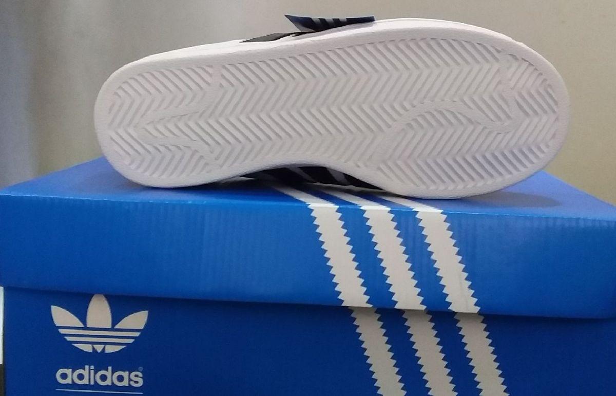 42999ca84d1 Sapatenis Adidas Super Star Branco Original Novo Na Caixa Promoção Número 39