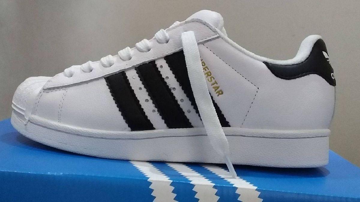 86ce918838c sapatenis adidas super star branco original novo na caixa promoção número 39  - tênis adidas