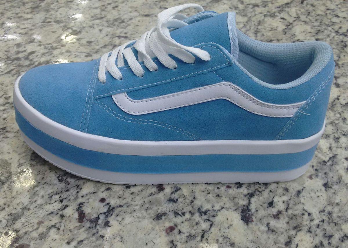 sapatênis vanz azul claro numero 37 - tênis vans cbbc2772aa83b
