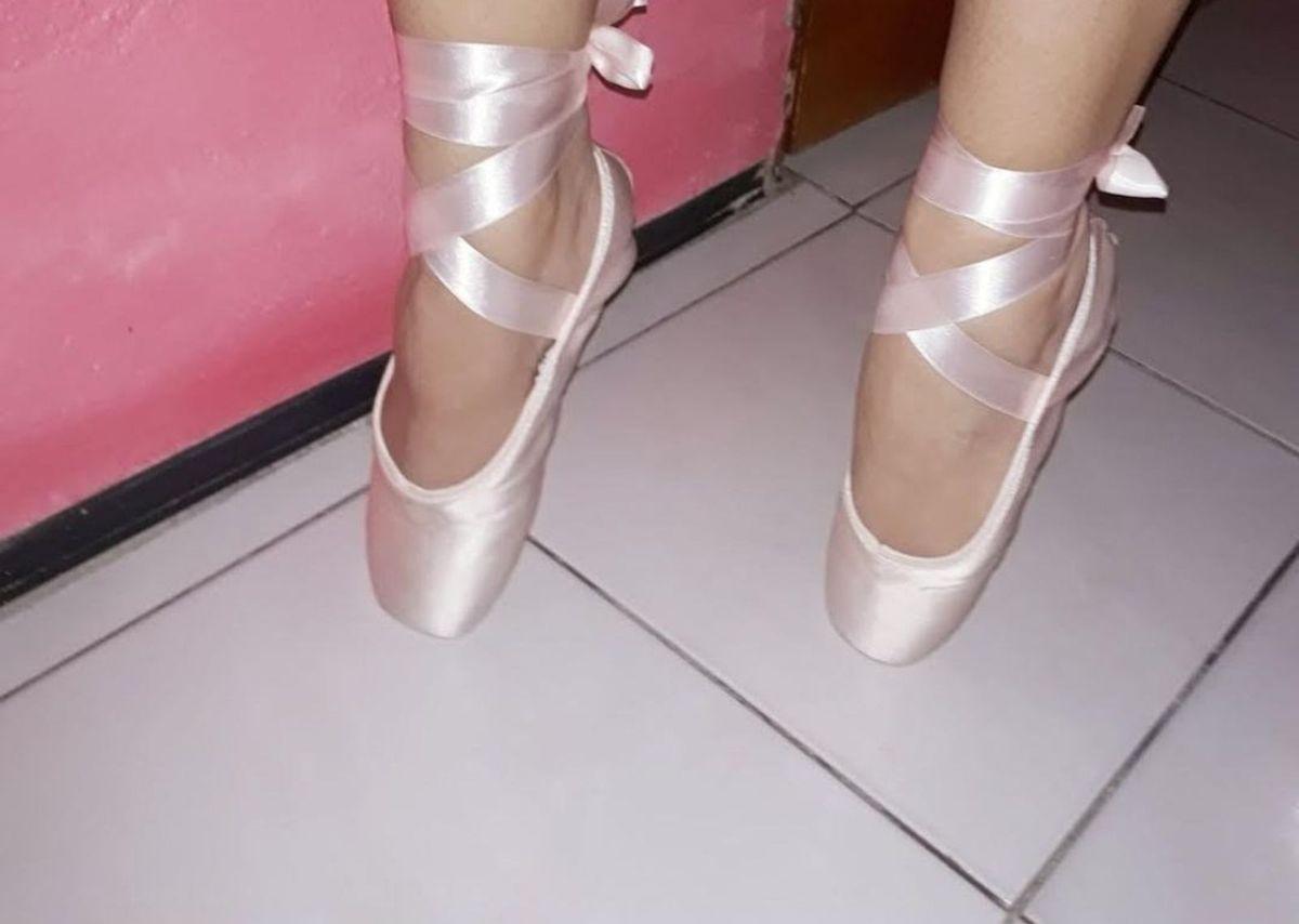19b17a04cb sapatilha de ponta capézio nova com ponteira de silicone - sapatilha capézio