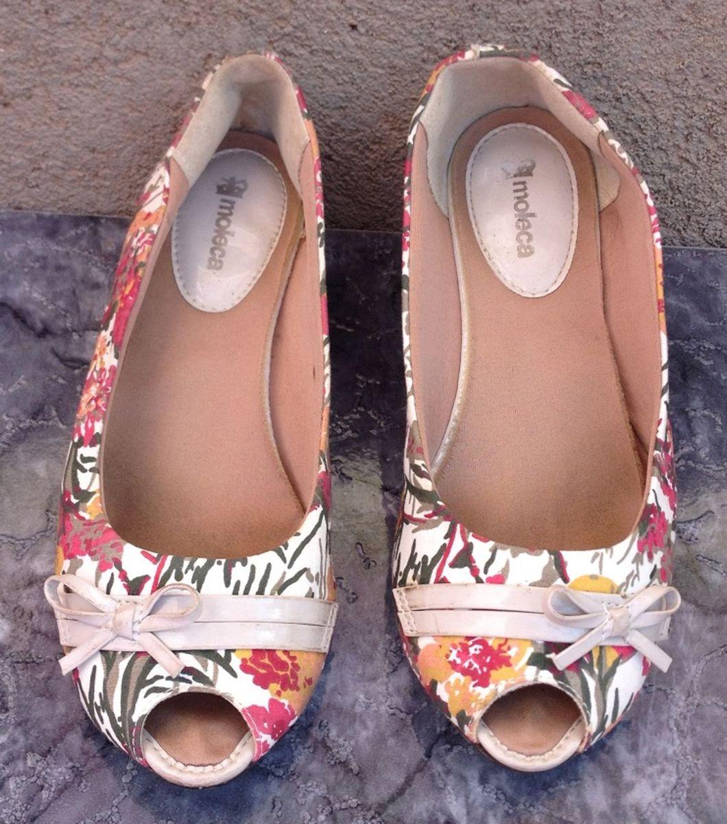 3b00029b75 sapatilha moleca estampada (peep toe) - sapatilha moleca