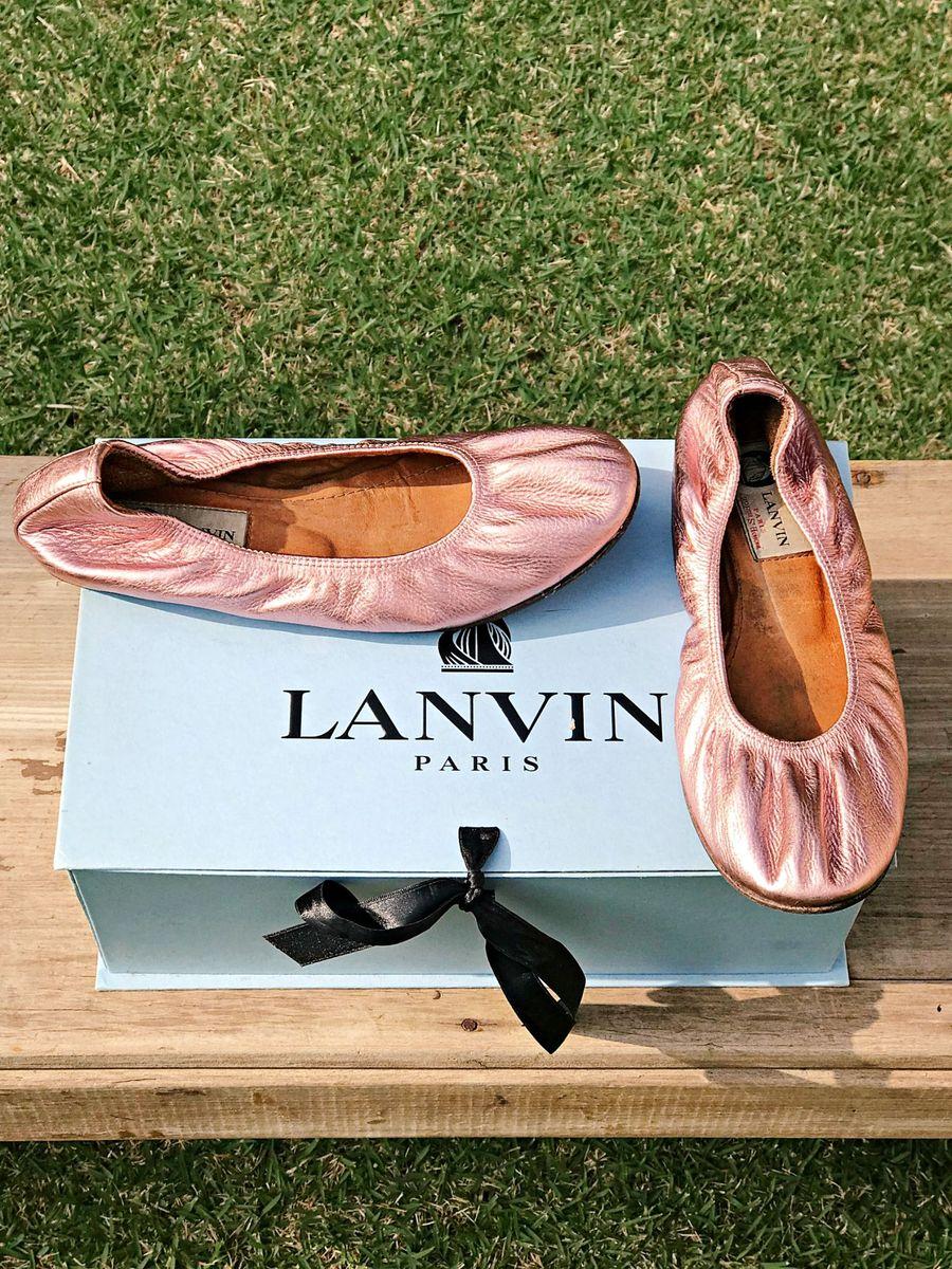 sapatilha rosé lanvin - sapatilha lanvin