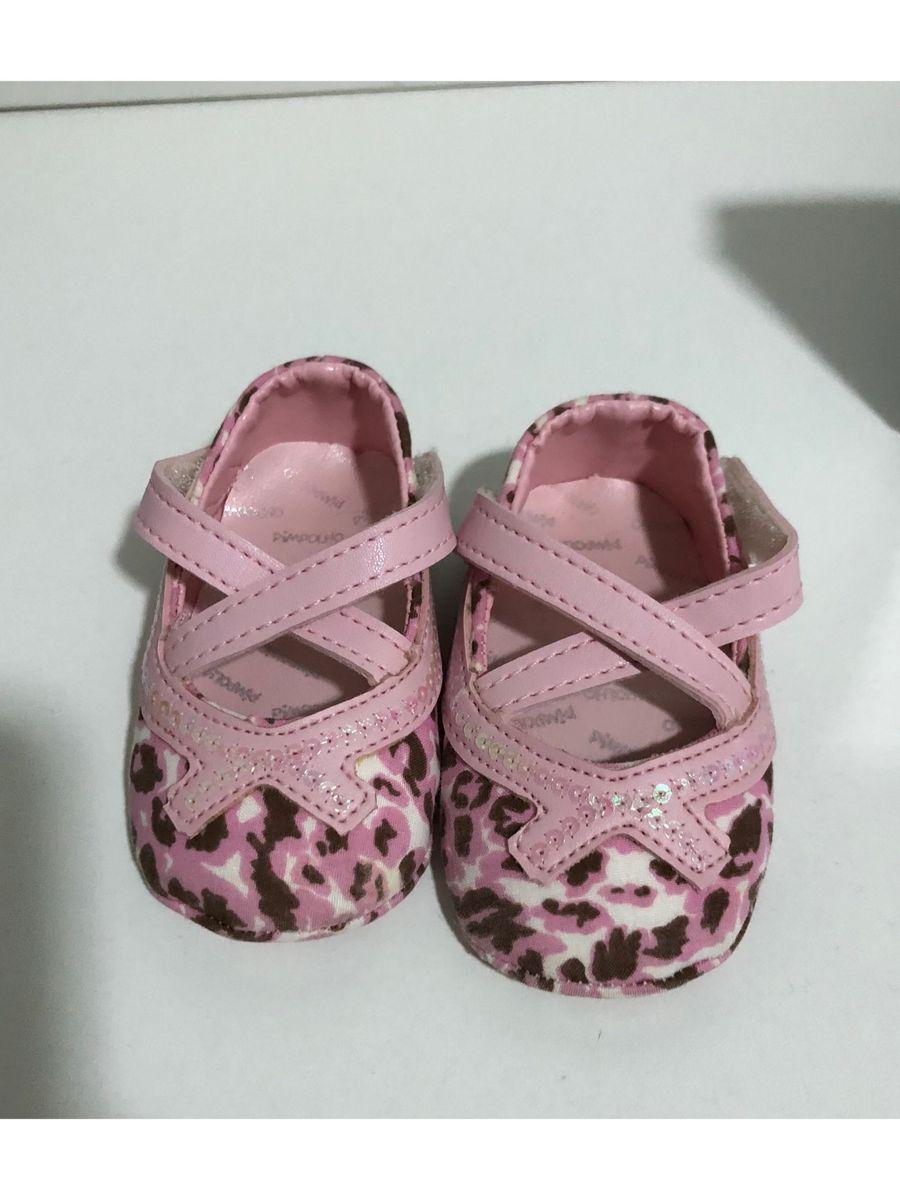 cbd2ed97d Sapatinho Bebê Oncinha Rosa Pimpolho | Calçado Infantil para Bebê ...