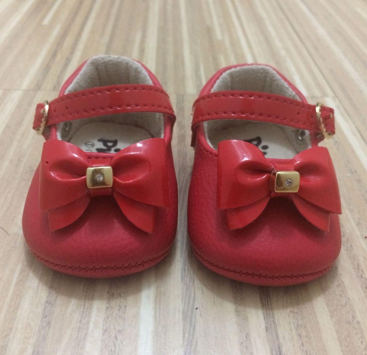 e518f708b sapatinho bebê vermelho, laço verniz - pimpolho tam 01 - bebê pimpolho