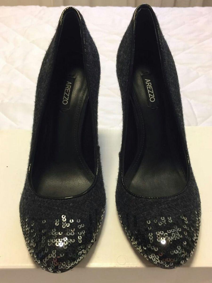 a160aed7d sapato arezzo fechado boneca salto alto preto novo original 34 - sapatos  arezzo