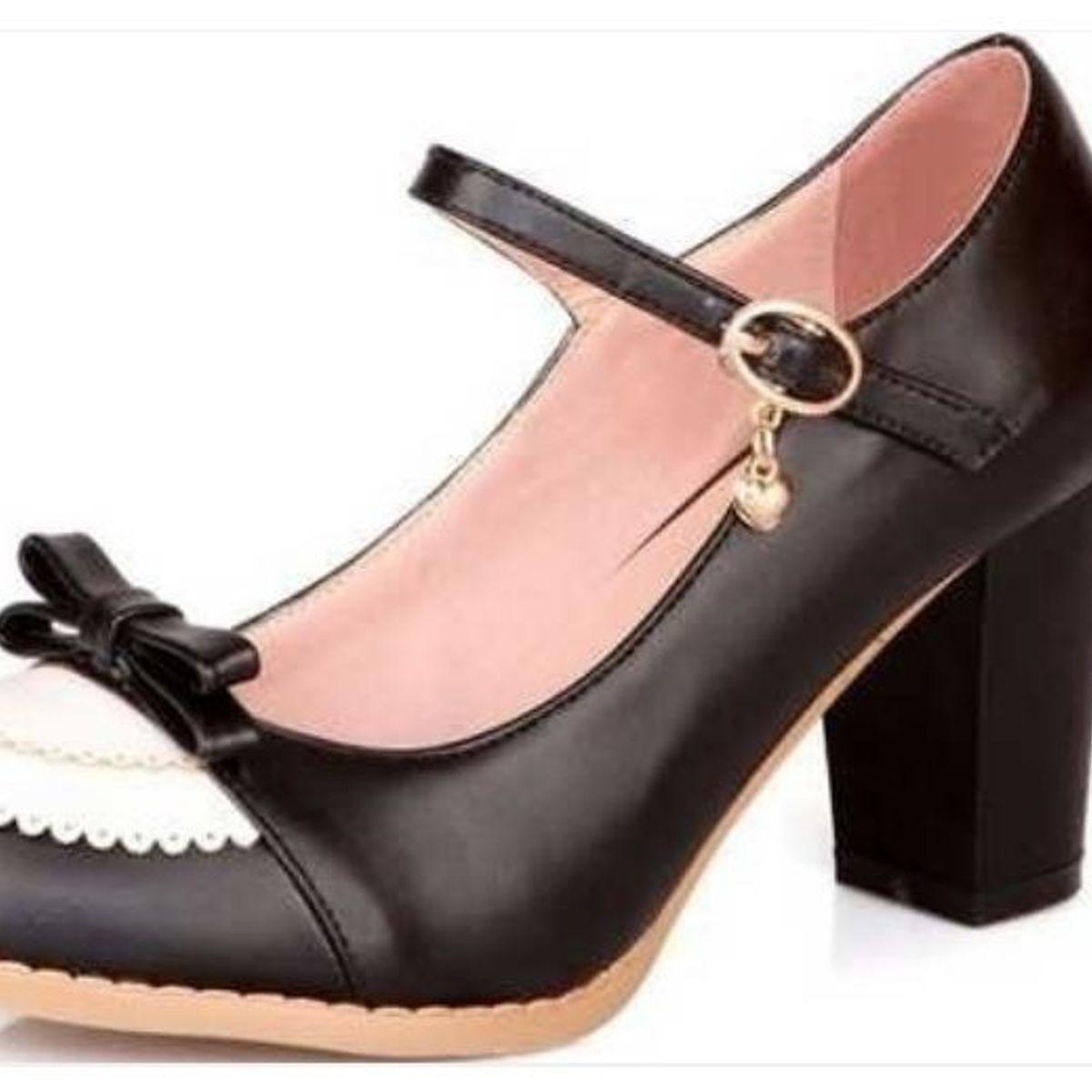 a0be82e1b2 Sapato Boneca Gótico/cosplay/lolita   Sapato Feminino Nunca Usado 31727140    enjoei
