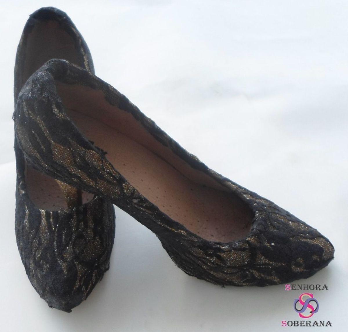 ff9f01616 Sapato Brilho e Renda Personalizado (festa) (debutante) (15 Anos ...