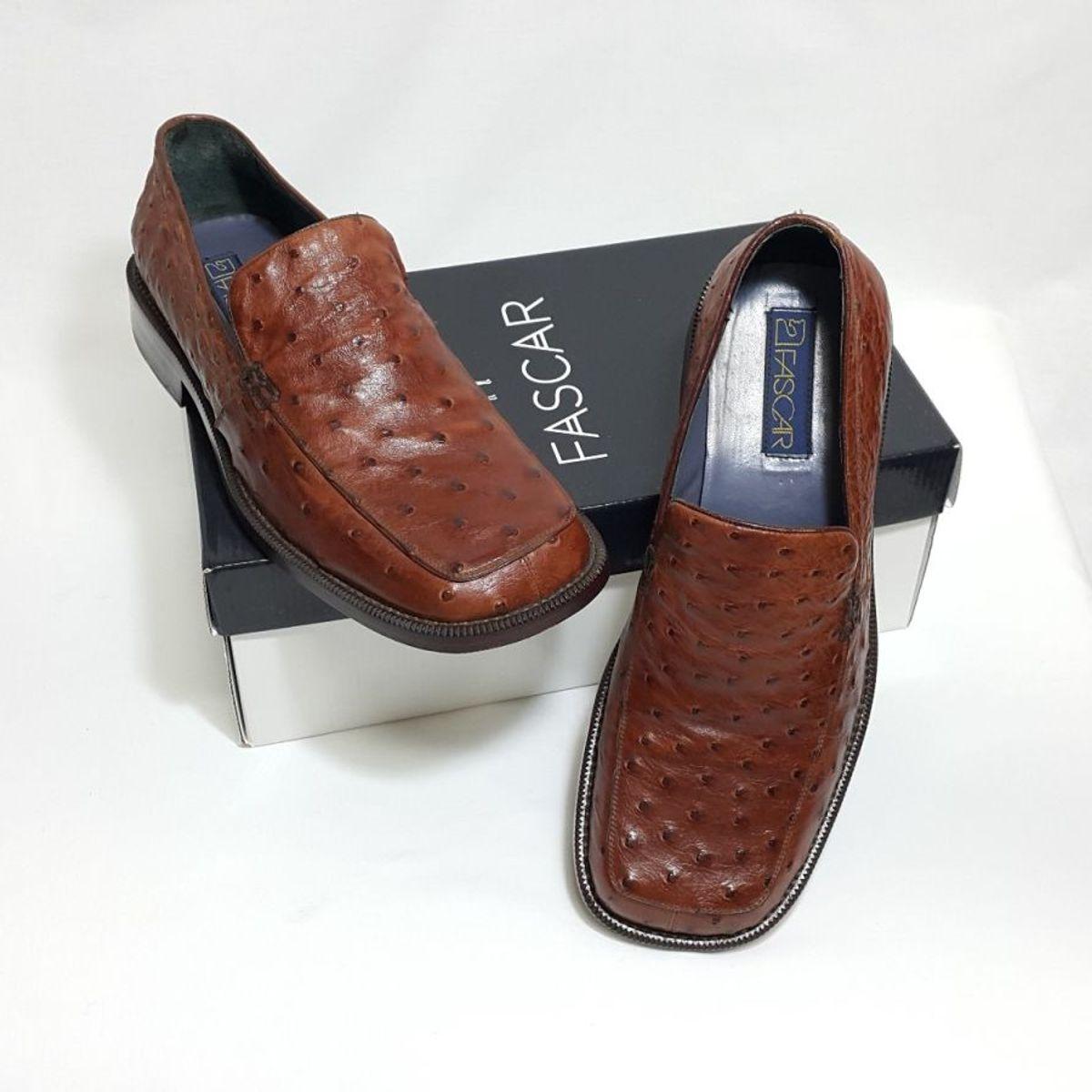 02599fe10 Sapato Couro Avestruz Legít. Caramelo | Sapato Masculino Fascar Usado  30613809 | enjoei
